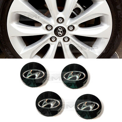 OEM Wheel Center BLACK Caps Cover For HYUNDAI 2011-2014 YF Sonata