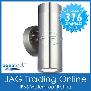 H/D 316 STAINLESS STEEL GU10 UP/DOWN OUTDOOR EXTERIOR WALL LIGHT-WATERPROOF IP65