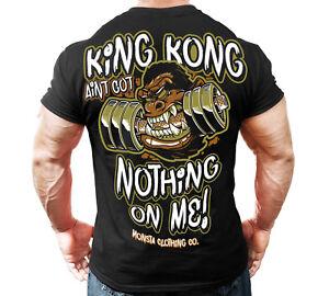New-Men-039-s-Monsta-Clothing-Fitness-Gym-T-shirt-King-Kong