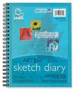 2 Pack Pacon 4794 UCreate Sketch Diary 8.5 x 11 70 Sheets