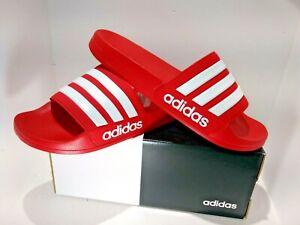 new concept 2fa0f 2eb15 Image is loading NEW-Adidas-Men-039-s-Adilette-Scarlet-White-
