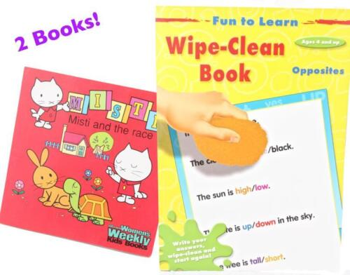 1 of 1 - 2 Books - Wipe Clean Opposites Activity Book PLUS Misti and the Race Story Book