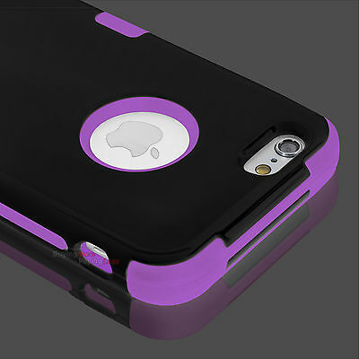 Hybrid Shockproof Hard&Soft Rugged Tuff Cover Case For Apple iPhone 5 5s SE