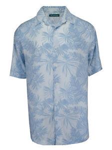 Cubavera-Men-039-s-Short-Sleeve-Printed-Woven-Sport-Shirt-Bright-White