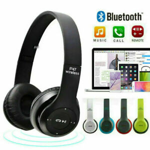Wireless Bluetooth Headphones With Boom Microphone Gaming Over Ear Headsets 5 0 Ebay