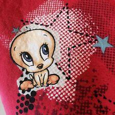 Scrub Tweety Bird Blonde Ambition Looney Tunes Red Top V neck Cross Body Warner