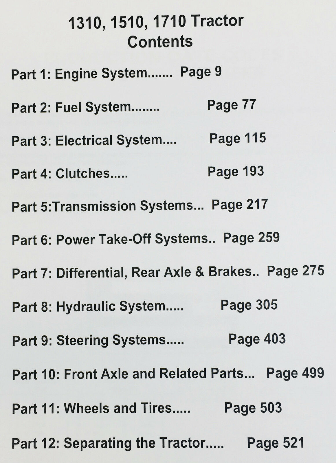 Ford 1310 1510 1710 Compact Offset Tractor Service Repair Shop Wiring Harness Picture Manual Book Ebay