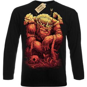 Orc-Chief-T-Shirt-d-amp-d-goblin-ogre-troll-king-Mens-Long-Sleeve