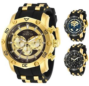 Invicta-Men-039-s-Pro-Diver-Scuba-Gold-Tone-50mm-Choice-of-Color