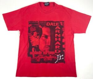 Dale-Earnhardt-Jr-Mens-T-Shirt-Red-Coming-of-Age-Budweiser-Short-Sleeves-M