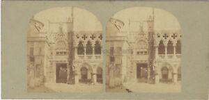 Palais Dei Doge Venezia Italia Foto Stereo Vintage Albumina Ca 1860