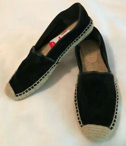 NWOB-VIA-SPIGA-Women-039-s-Arnelia-Black-Suede-Espadrilles-Shoes-Sz-7-5-m