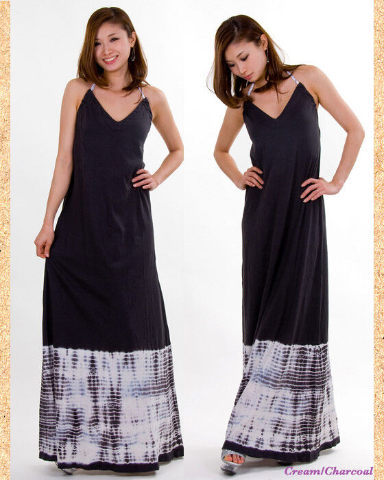 Gypsy Gypsy Gypsy 05 Maxi Vestido Halter de algodón S Tie Dye Dobladillo ac0f4a