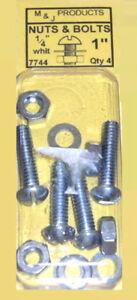 """1/4"""" Dans Les Fichiers Nuts & Bolts 1"""" Quantity 4 M&j Products 7744-afficher Le Titre D'origine"""