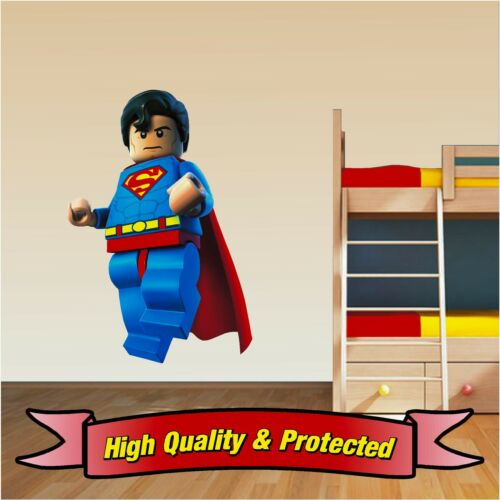 Wall Art Vinyl Sticker Decal Childrens Bedroom Boys Girls Lego Superman