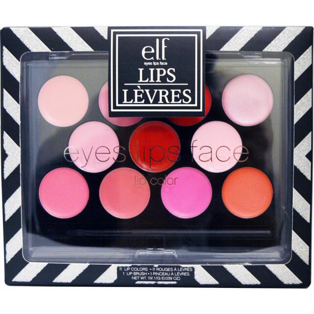 E.L.F Cosmetics Lips Palette 11 Lip Shades +1 Lip Brush Paleta Labios elf E422