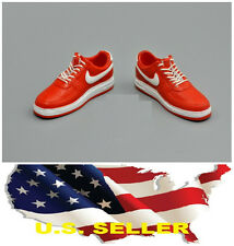 "❶❶1/6 shoes Nike style red white color man sneaker for 12"" figure US seller❶❶"