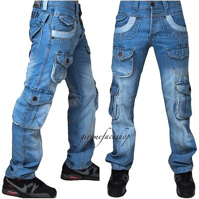 "Peviani true combat g jeans, light denim hiphop urban time is money 'star wash"""