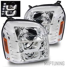 07-14 Yukon/XL/Denali/Hybrid Chrome Fiber Optic LED Projector Headlights LH+RH