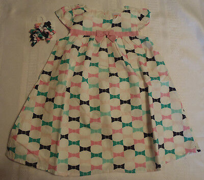 Gymboree Picture Day Dress Bow Print Curly Hair Clips NWT Size 5T 4T 3T 2T 18-24