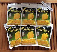 6 x 200 g 7D KOSHER DRIED REAL MANGO MANGOES NATURALLY PROCESS with CANE SUGAR