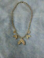 Vintage Diamanté/Rhinestone Art Deco Style Chevron Choker Necklace VGC