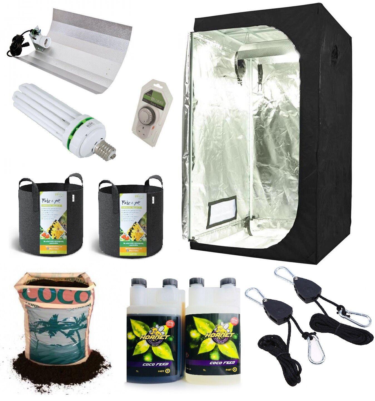 Kit completo de luz de crecimiento Grow Tent interior Hidroponía establecer sistema pequeño 50x100