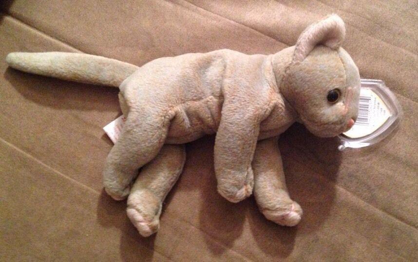 Ty beanie baby verschwindet die katze mit fehlern auf tags 1998   1999