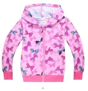 af41c3bcea2 NWT Girls Jojo Siwa Pink Bows Hoodie Zipper Sweater Sizes 3 4 5 6 7 ...