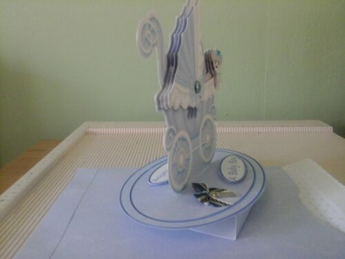 Handmade 3D Pop up card for New Baby Girl or Baby Boy