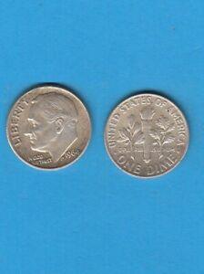 $ Etats-unis One Franklin D. Roosevelt Dime 1964 Philadelphia Silver Coin Usa Style à La Mode;