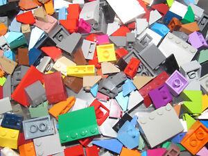 Lego-Gros-lot-Vrac-100g-Briques-Penchee-Slope-Brick-Mix-Modele-amp-Couleur-NEW