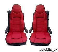 RED PREMIUM PADDED SEAT COVERS SET OF 2 CUSHIONS VOLVO 16 FH16 FH12 FL FE FM NEW