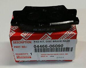 lexus oem factory rear brake pad set 2007 2012 es350 04466. Black Bedroom Furniture Sets. Home Design Ideas