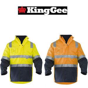 Mens-KingGee-4-in-1-Waterproof-We-Weather-Jacket-Fleece-Lining-Winter-K55300