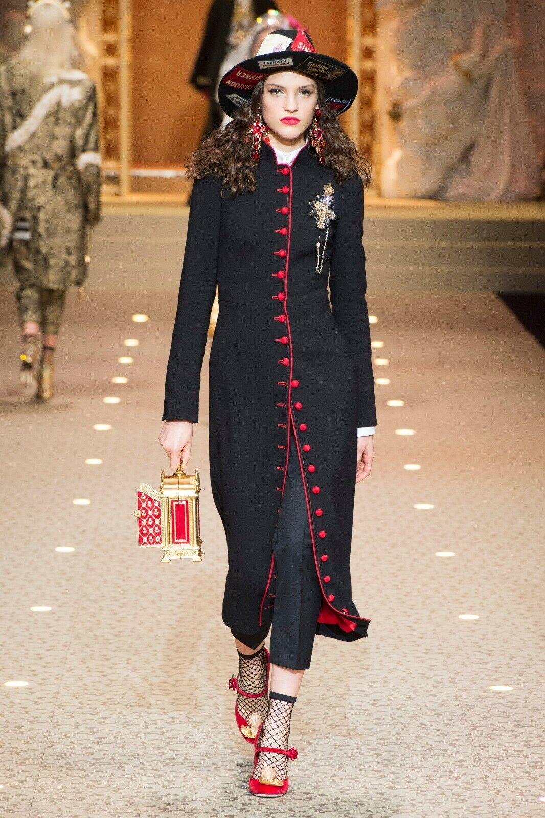 Dolce & Gabbana 'Catwalk Featured' Wool Dress Coat **BNWT** Size IT36-UK4-3XS