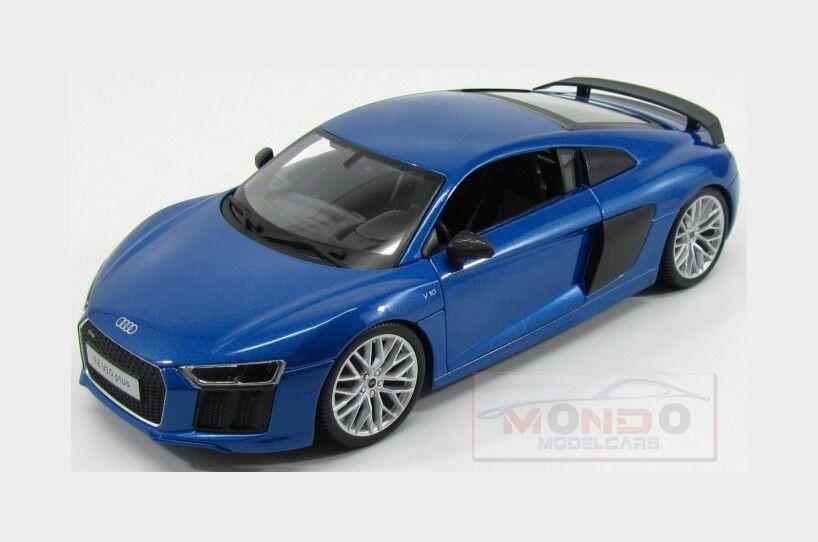 Audi R8 V10 Plus Coupe 2015 bleu Met Carbon Maisto 1 18 MI36213BL
