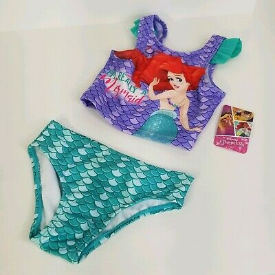 NEW Boutique Girls Purple Mermaid Bikini Swimsuit 3T 4T 5T