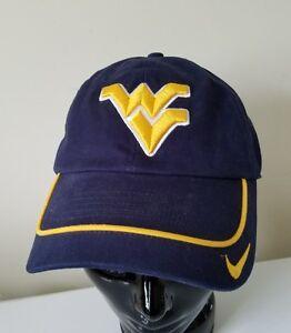 Image is loading Nike-West-Virginia-University-Mountaineers-WVU-Cap-Hat- f671e2b1925