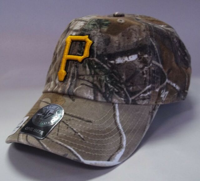 new product 41704 159e1 Pittsburgh Pirates 47 Brand Clean Up Adjustable Hat Baseball Cap RealTree