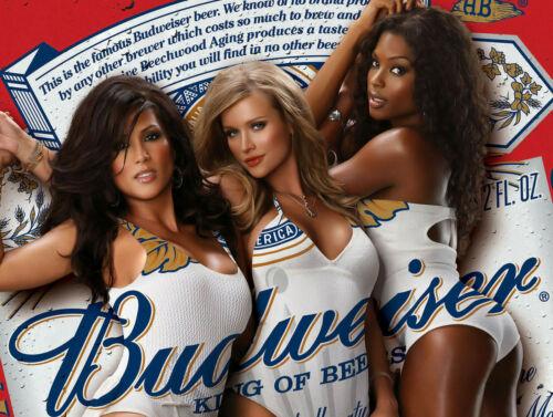 Budweiser Pin Ups Rétro Replica Style Vintage métal étain signe CADEAU PUB