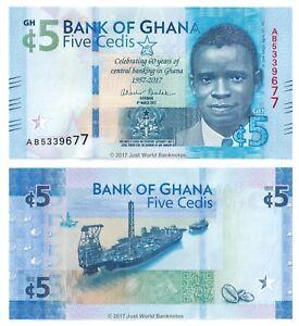 Ghana 5 Cedis p-43 2017 Commemorative UNC Banknote