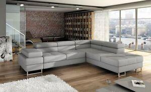 Italian-style-CORNER-SOFA-BED-COLETTO-bedding-storage-amp-adjustable-headrests