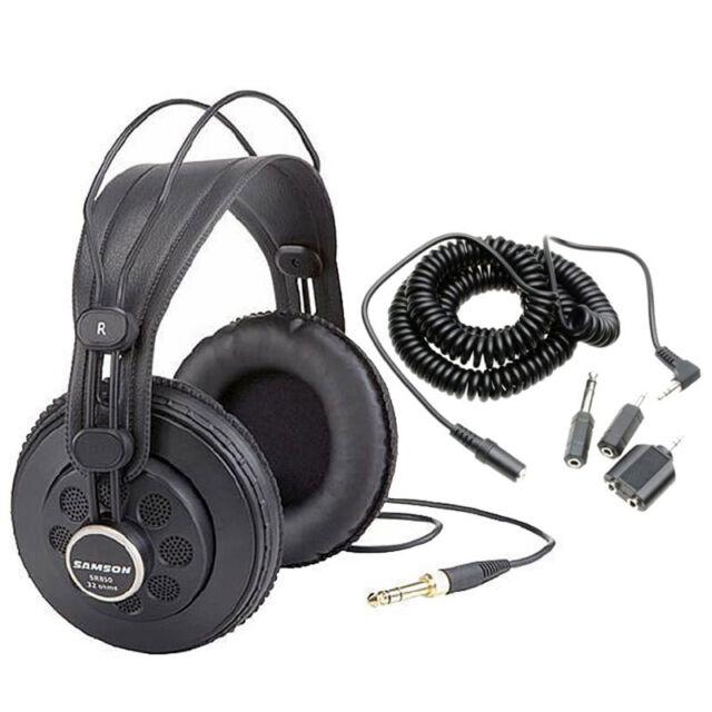 Samson SR850 Professional Studio Headphones + 20 Ft.Extension Cord + Adaptor Set