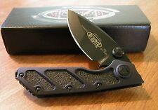 MICROTECH New Black Manual Action DOC Black Plain Edge El Max Blade Knife/Knives