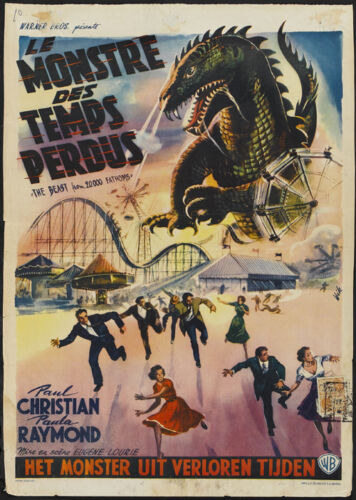 The Beast from 20,000 Fathoms Horror movie poster print