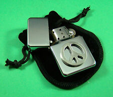 CND Symbol Petrol Lighter in Pouch Free UK Post