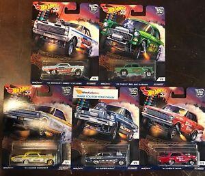 Drag-Strip-5-Car-Set-2018-Hot-Wheels-Drag-Strip-Car-Culture-F-Case-Set