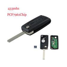 For Citroen C2 C3 C4 PICASSO C5 Auto Remote Alarm Flip Key Fob 433MHz PCF7961