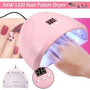 36w led uv nail polish dryer led lamp gel acrylic curing